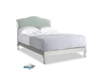 Double Coco Bed in Scuffed Grey in Sea surf clever cotton