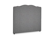 Double Marie Headboard in Strong grey clever woolly fabric
