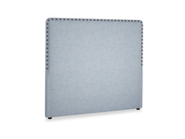 Double Smith Headboard in Frost clever woolly fabric