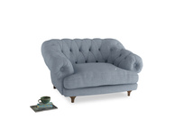 Bagsie Love Seat in Frost clever woolly fabric