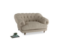 Bagsie Love Seat in Flagstone clever woolly fabric