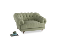 Bagsie Love Seat in Old sage washed cotton linen