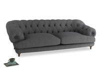 Extra large Bagsie Sofa in Strong grey clever woolly fabric