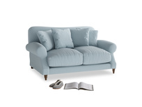 Small Crumpet Sofa in Soothing blue washed cotton linen