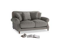 Small Crumpet Sofa in Monsoon grey clever cotton