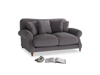 Small Crumpet Sofa in Graphite grey clever cotton