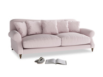 Large Crumpet Sofa in Dusky blossom washed cotton linen