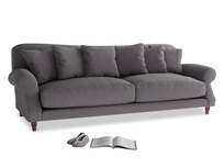 Extra large Crumpet Sofa in Graphite grey clever cotton