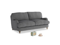 Small Jonesy Sofa in Strong grey clever woolly fabric