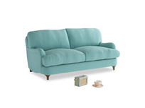 Small Jonesy Sofa in Kingfisher clever cotton