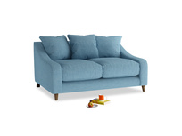 Small Oscar Sofa in Moroccan blue clever woolly fabric