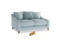Small Oscar Sofa in Soothing blue washed cotton linen