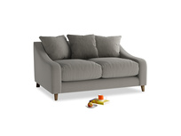 Small Oscar Sofa in Monsoon grey clever cotton