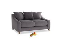 Small Oscar Sofa in Graphite grey clever cotton