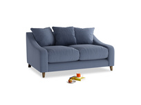 Small Oscar Sofa in Breton blue clever cotton