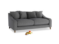 Medium Oscar Sofa in Strong grey clever woolly fabric
