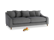Large Oscar Sofa in Strong grey clever woolly fabric