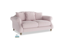 Small Sloucher Sofa in Dusky blossom washed cotton linen