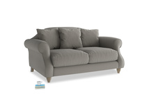 Small Sloucher Sofa in Monsoon grey clever cotton