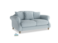 Small Sloucher Sofa in Scandi blue clever cotton