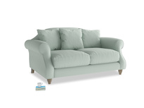 Small Sloucher Sofa in Sea surf clever cotton