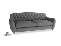 Large Butterbump Sofa in Strong grey clever woolly fabric