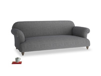 Large Soufflé Sofa in Strong grey clever woolly fabric