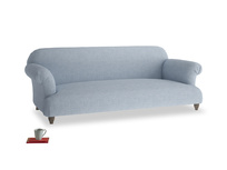 Large Soufflé Sofa in Frost clever woolly fabric