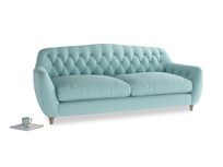 Large Butterbump Sofa in Adriatic washed cotton linen