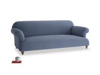 Large Soufflé Sofa in Breton blue clever cotton