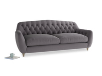 Large Butterbump Sofa in Graphite grey clever cotton