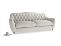 Large Butterbump Sofa in Moondust grey clever cotton