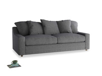 Large Cloud Sofa in Strong grey clever woolly fabric