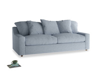 Large Cloud Sofa in Frost clever woolly fabric