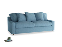 Large Cloud Sofa in Moroccan blue clever woolly fabric