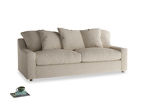 Large Cloud Sofa in Flagstone clever woolly fabric