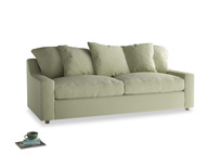 Large Cloud Sofa in Old sage washed cotton linen