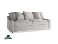 Large Cloud Sofa in Lunar Grey washed cotton linen