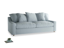 Large Cloud Sofa in Scandi blue clever cotton
