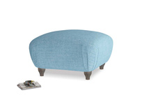 Small square footstool Homebody Footstool in Moroccan blue clever woolly fabric