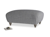 Rectangle Homebody Footstool in Strong grey clever woolly fabric