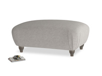 Rectangle Homebody Footstool in Marl grey clever woolly fabric
