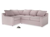 Large Left Hand Cloud Corner Sofa in Dusky blossom washed cotton linen
