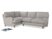 Large Left Hand Jonesy Corner Sofa in Lunar Grey washed cotton linen