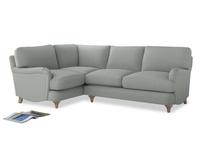 Large Left Hand Jonesy Corner Sofa in Eggshell grey clever cotton