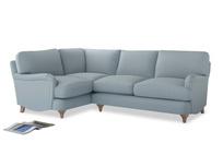 Large Left Hand Jonesy Corner Sofa in Scandi blue clever cotton