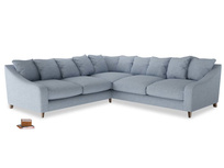 Even Sided Oscar Corner Sofa  in Frost clever woolly fabric