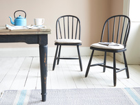 Chortler wooden spindle back farmhouse kitchen chairs