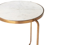 High Jinks brass and marble side table