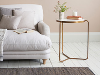 High Jinks brass base and marble top side table